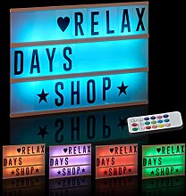 Relaxdays Light Box with Colour Change, Light