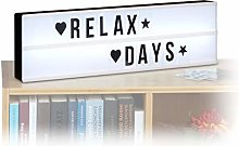 Relaxdays Light Box with Letters, 85 Characters,