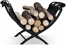 Relaxdays Log Cradle with Tote Bag, Folding,