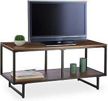 Relaxdays Melamine TV Lowboard, Wooden Look,