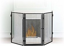 Relaxdays Metal Fireplace Screen, 5-Panel Safety