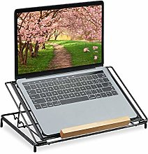 Relaxdays Metal Mesh Laptop Stand, 13