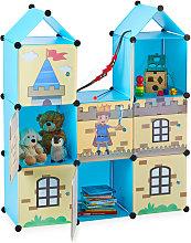 Relaxdays Modular Nursery Shelf, Cool Castle,
