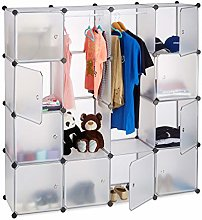 Relaxdays Modular Wardrobe, 12 Compartments,