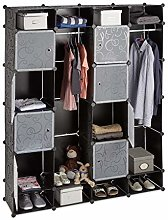 Relaxdays Modular Wardrobe, 20 Compartments,