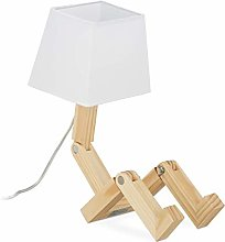 Relaxdays, Natural Table lamp, Robot, Adjustable,