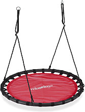 Relaxdays Nest Swing, Round Hanging Swing for