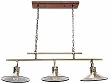 Relaxdays Pendant Light with 3 Flames, Brass Look