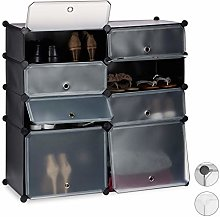 Relaxdays Plastic Cabinet, 8 Compartment Shoe