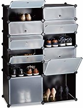 Relaxdays Plastic Shoe Cabinet, 12 Compartment