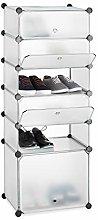 Relaxdays Plastic Shoe Cabinet, Modular Shelving