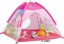 Relaxdays Play Tent for Girls, Fairy Castle