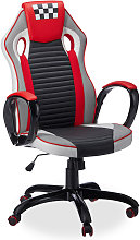 Relaxdays Race Car Gaming Chair, Professional Desk