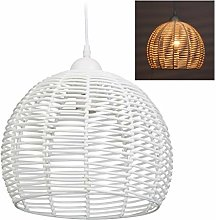Relaxdays Rattan Lamp for Kitchen, Living Room &