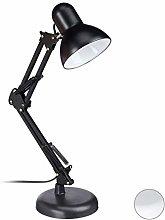 Relaxdays Retro Desk Lamp - Swivelling Metal Lamp