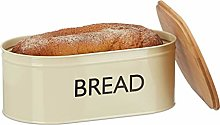 Relaxdays Retro XL Bread Box with Bamboo Lid,