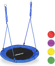 Relaxdays Round Nest Swing for Children & Adults,