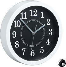 Relaxdays Round Wall Clock, Ø 20cm, Hanging Wall