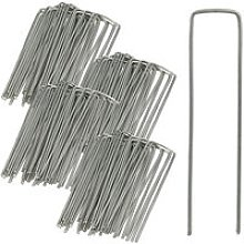 Relaxdays Securing Pegs Set of 100, Stainless,
