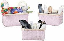 Relaxdays Set of 3 Storage Baskets Wicker Look