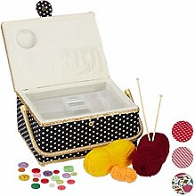 Relaxdays Sewing Basket, Without Content,