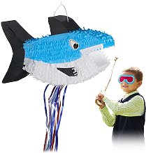 Relaxdays Shark Pinata, Hanging, for Boys & Girls,