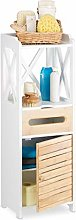 Relaxdays Shelf Narrow With 5 Shelves, Multi