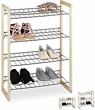 Relaxdays Shoe Rack, Open Hallway Storage Stand,