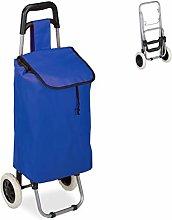 Relaxdays Shopping Trolley, Folding, 25 L Grocery