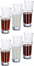 Relaxdays Shot Glass Set of 12, 4cl Drinking Game