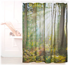 Relaxdays Shower Curtain with Natural Forest