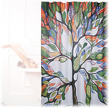 Relaxdays Shower Curtain with Tree Motif,