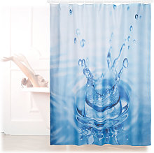 Relaxdays Shower Curtain with Waterdrop Motif,