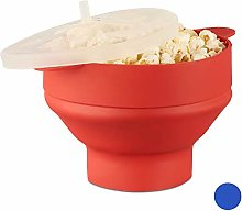 Relaxdays Silicone Microwave Popcorn Maker,