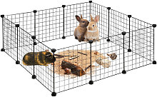 Relaxdays Small Animal Cage, Open Enclosure, DIY