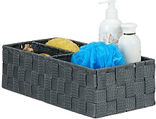 Relaxdays Small Storage Bin, 3 Compartments,