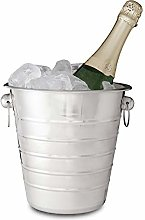 Relaxdays Stainless Steel Cooler with Handles, Ice