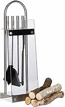 Relaxdays Stainless Steel Fireplace Companion Set,