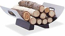 Relaxdays Stainless Steel Log Cradle, Modern