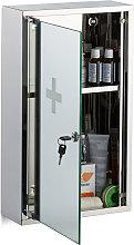 Relaxdays Stainless Steel Medicine Cabinet,