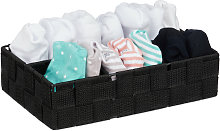 Relaxdays Storage Basket, 4 Compartments,
