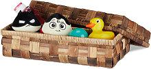 Relaxdays Storage Basket, Lidded Box, Braided