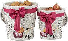 Relaxdays Storage Basket Set of 2, Bins for Bread,
