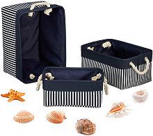 Relaxdays Storage Basket Set of 3, Shelf Bins in 3