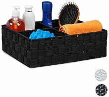 Relaxdays Storage Basket with 4 Compartments,