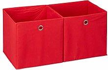 Relaxdays Storage Box Set of 2, Square, Shelf