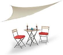 Relaxdays Sun Shade Sail, Triangular, with