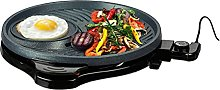 Relaxdays Table Barbecue Round Temperature Control