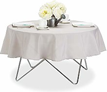 Relaxdays Tablecloth, Waterproof, Polyester Table