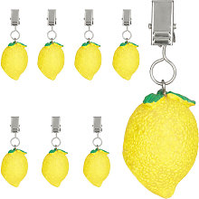 Relaxdays tablecloth weights, lemon design, set of
